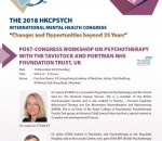 Post-Congress Workshop on Psychotherapy with theTavistock And Portman NHS Foundation Trust, UK